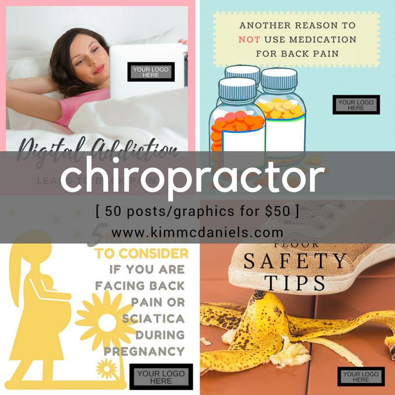 chiropractor social media